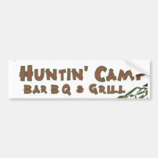 Barbacoa del campo de Huntn y pegatina para el par Pegatina De Parachoque