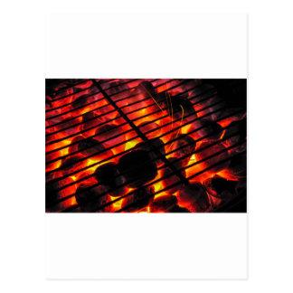 Barbacoa del carbón de leña postales