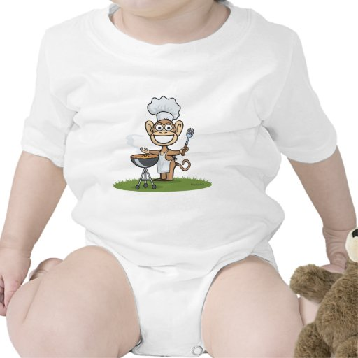Barbacoa del mono camiseta