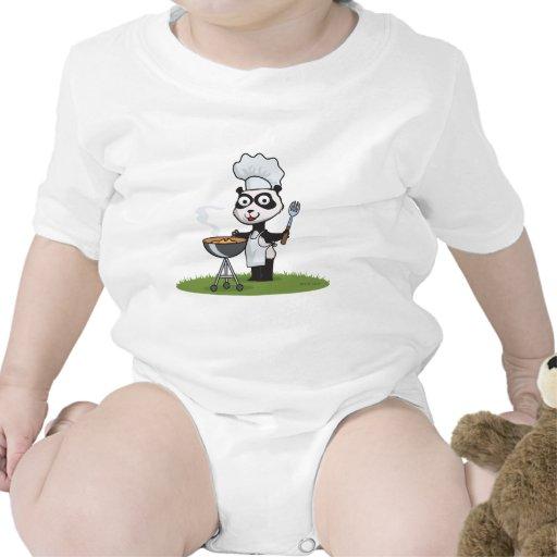 Barbacoa del oso de panda traje de bebé