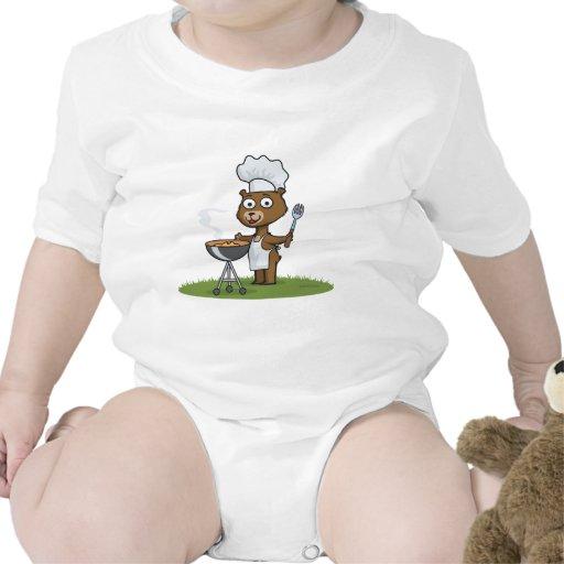 Barbacoa del oso de peluche trajes de bebé