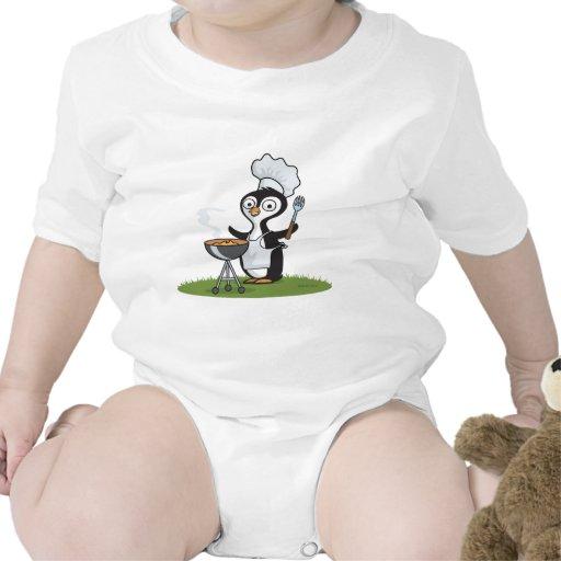 Barbacoa del pingüino trajes de bebé