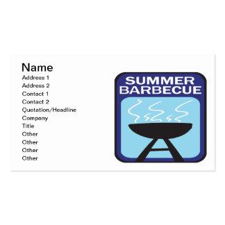 Barbacoa del verano tarjetas de visita