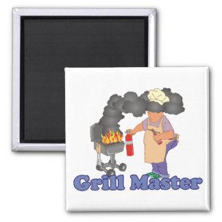 Barbacoa divertida de Grill Master Imán Cuadrado