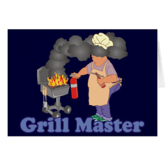Barbacoa divertida de Grill Master Tarjeta De Felicitación