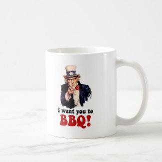 Barbacoa divertida taza de café