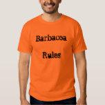 Barbacoa gobierna la camiseta playera
