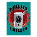 Barbacoa Grillin del papá y tarjeta de Chillin