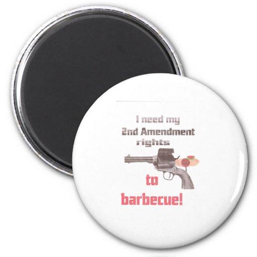 barbacoa imán redondo 5 cm