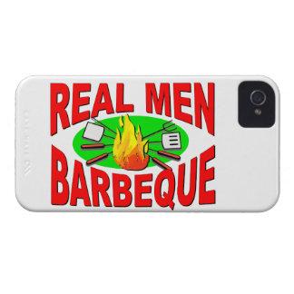 Barbacoa real de los hombres. Diseño divertido iPhone 4 Cárcasas