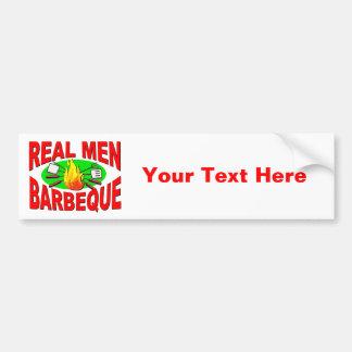 Barbacoa real de los hombres. Diseño divertido par Pegatina Para Auto