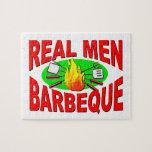Barbacoa real de los hombres. Diseño divertido par Rompecabezas