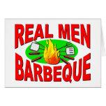 Barbacoa real de los hombres. Diseño divertido par Felicitacion