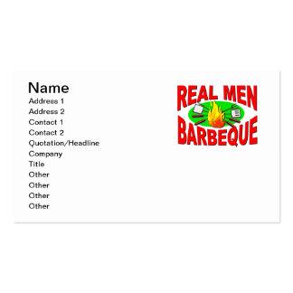 Barbacoa real de los hombres. Diseño divertido Tarjetas De Visita