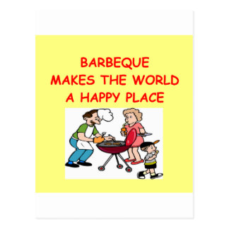 barbacoa tarjetas postales