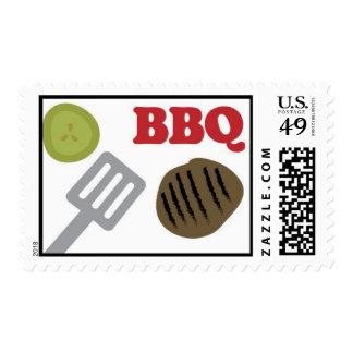 barbacoa timbre postal