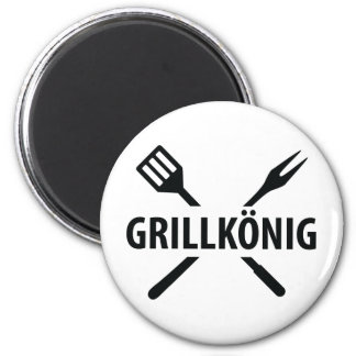 barbacue king icon 2 inch round magnet