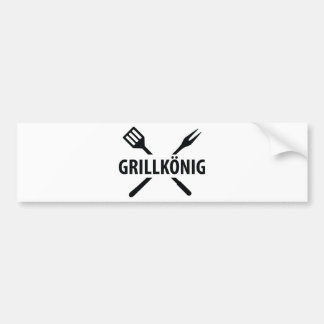 barbacue king icon car bumper sticker