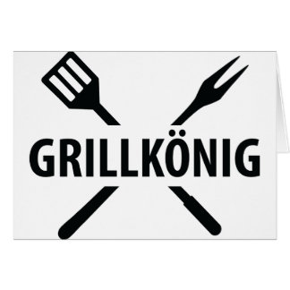 barbacue king icon greeting cards