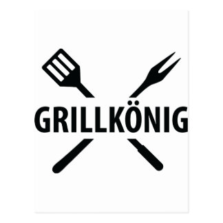 barbacue king icon post cards