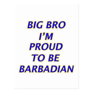 Barbadian design postcard