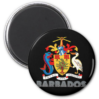Barbadian Emblem 2 Inch Round Magnet