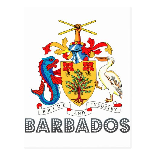 Barbadian Emblem Postcard