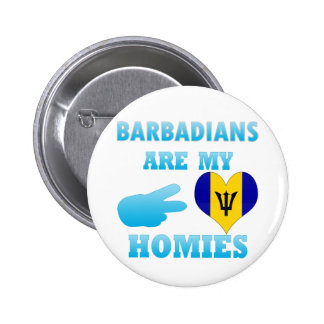 Barbadians are my Homies 2 Inch Round Button