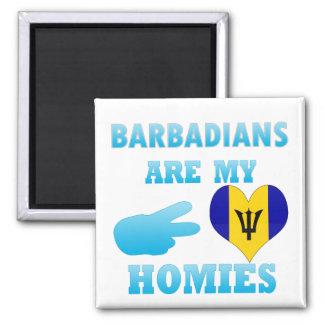 Barbadians are my Homies Fridge Magnet