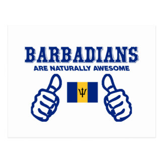 barbadians are naturally awesome postcard