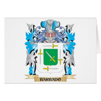 Barbado Coat of Arms Greeting Cards