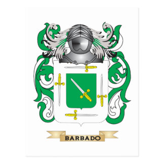 Barbado Coat of Arms Family Crest Post Cards