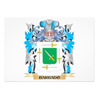 Barbado Coat of Arms Personalized Invitations