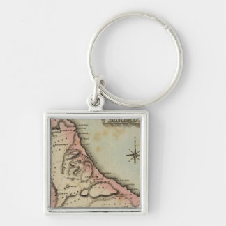 Barbadoes 2 Silver-Colored square keychain