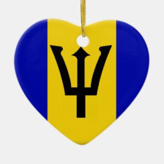 Barbados Adorno Navideño De Cerámica En Forma De Corazón