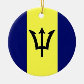 Barbados Adorno Navideño Redondo De Cerámica