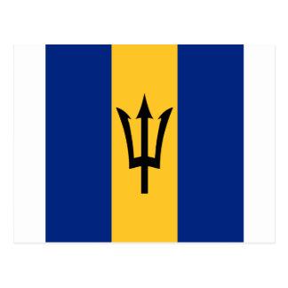 Barbados all over design postcard