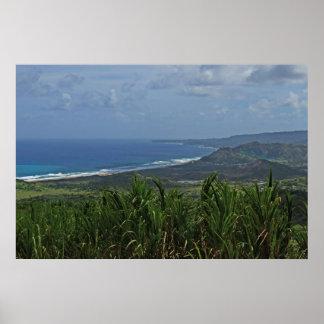 Barbados Atlantic Ocean View Poster