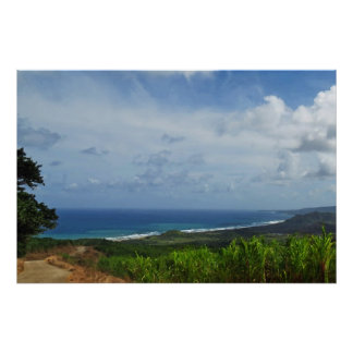 Barbados Atlantic View Photo-Painting Poster