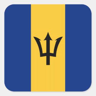 Barbados/Barbadian/Bajuns Flag Square Sticker