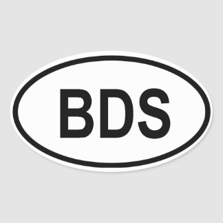 "Barbados ""BDS"" Oval Sticker"