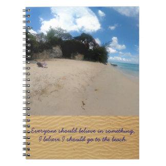 Barbados Beach Notebook