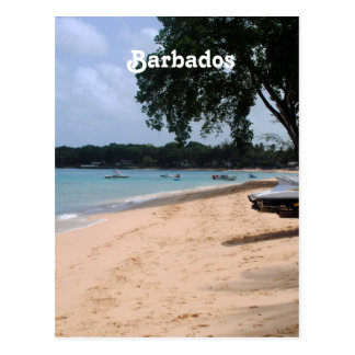 Barbados Beach Postcard