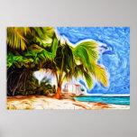 Barbados Beach Scene Poster