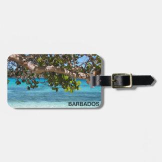 Barbados Beach Scenery Bag Tag