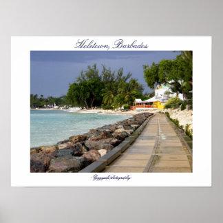 barbados boardwalk poster