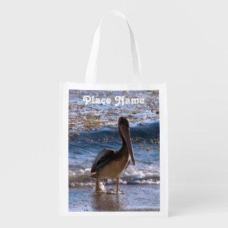 Barbados Brown Pelican Reusable Grocery Bags