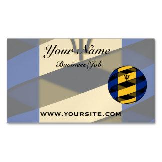 Barbados Business Card Magnet