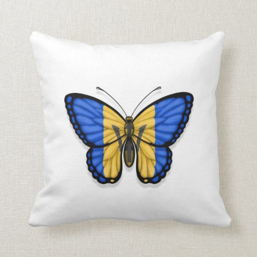 Barbados Butterfly Flag Pillows
