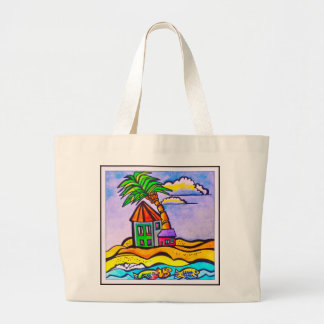 Barbados Casa Beach Tote Jumbo Tote Bag